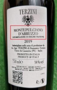 denominazione vino