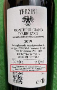 etichetta altre sostanze nel vino